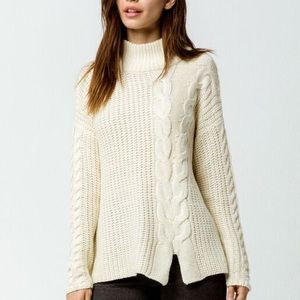 NWOT. Cable Knit Mock Neck Sweater